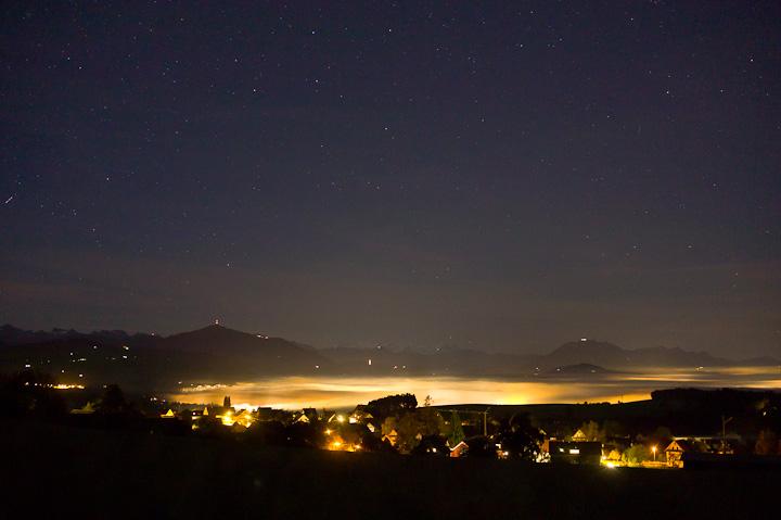 Zugersee Lichtverschmutzung