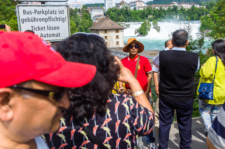 Rheinfall Tourists Schaffhausen