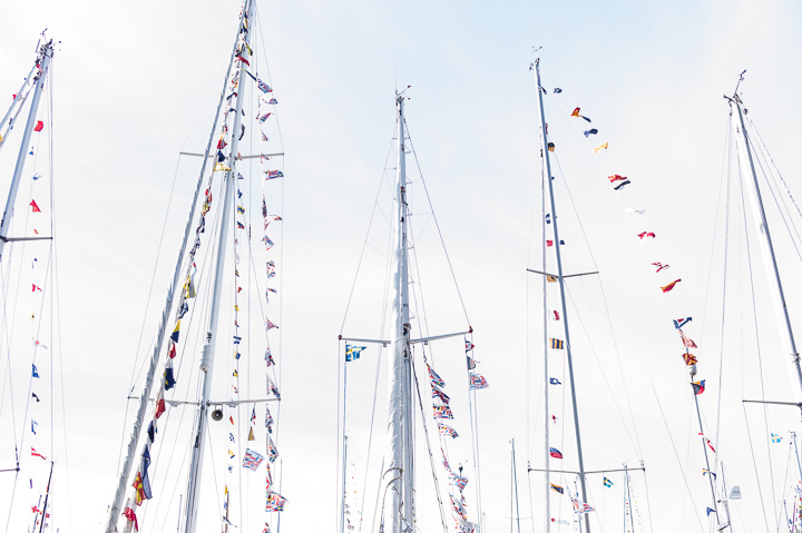 Flagged Sailboats